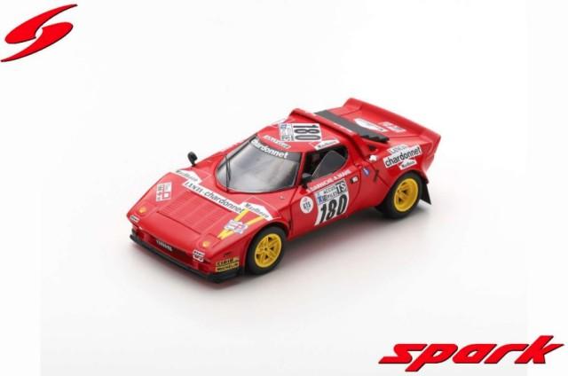 Spark 1/43 Lancia Stratos No.180 Winner Tour de France 1975 B. Darniche - A. Mahe