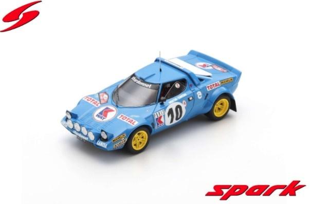 Spark 1/43 ランチアストラトス 1978 モンテカルロ ラリー 7位 #10 M.ムートン / F.Concon
