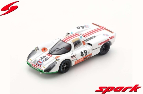 Spark 1/43 Porsche 907 No.49 24H Le Mans 1971 W. Brun - P. Mattli