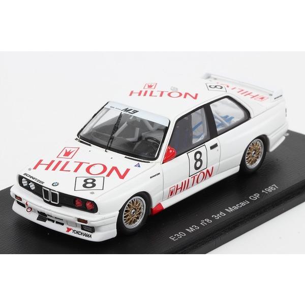 【スパーク】 1/43 BMW E30 M3 No.8 3rd Macau GP 1987   Fabien Giroix ※限定300台