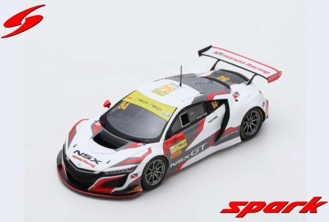 1/43 HONDA NSX GT3 NO.84 - HONDA RACING FIA GT WORLD CUP MACAU 2017 RENGER VAN DER ZANDE LIMITED 500