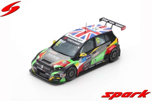 Spark 1/43 Volkswagen Golf GTI TCR No.12 2nd Race 3 WTCR Macau Guia Race 2018 Rob Huff