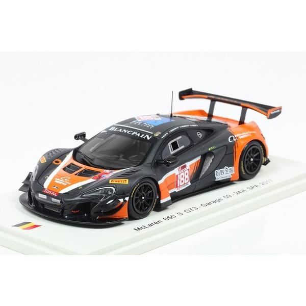 【Spark】 1/43 McLaren 650 S GT3 No.188 24H SPA 2017 Garage 59 A.West-C.Goodwin-C.Harris-B.Ellis