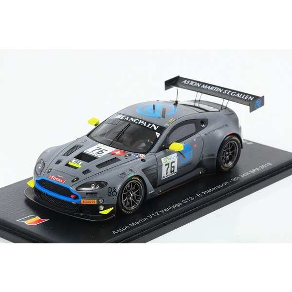 【Spark】1/43 Aston Martin V12 Vantage No.76 R-Motorsport 9th 24H SPA 2018
