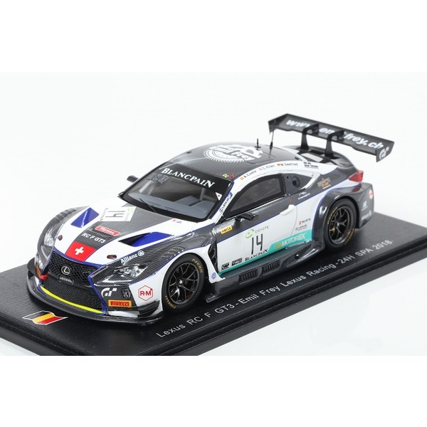 【Spark】 1/43 Lexus RC F GT3 No.14 Emil Frey Lexus Racing 24H SPA 2018 M. Seefried - C. Klien - A. Costa