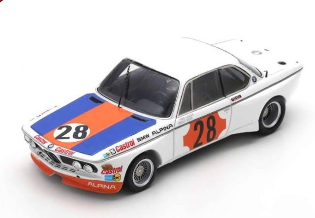 spark 1/43 BMW CSL No.28 Winner Gr.2 Coupes de Spa 1973 Niki Lauda