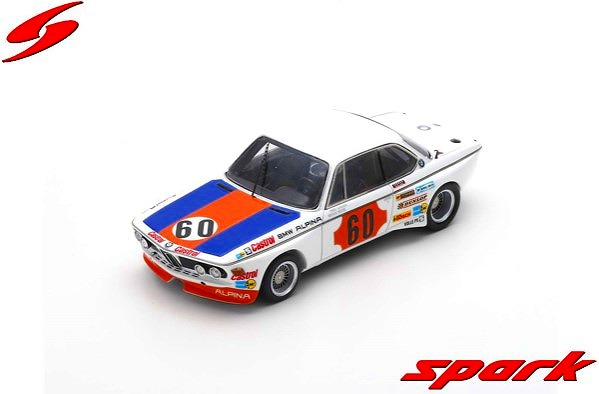 [Spark] 1/43 BMW CSL No.60 1000km SPA 1973 N. Lauda - H. Stuck Limited 500