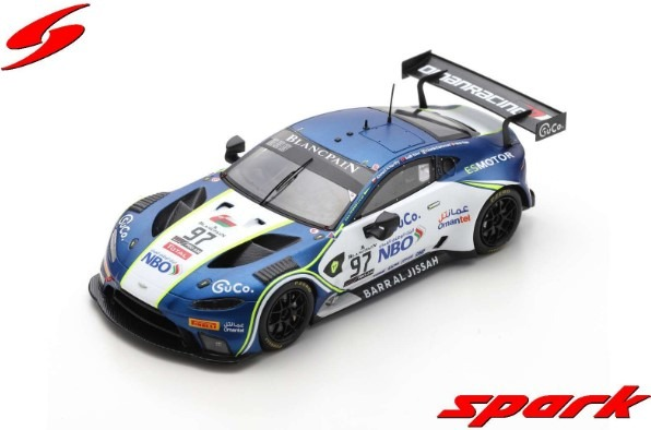 Spark 1/43 Aston Martin Vantage AMR GT3 No.97 Oman Racing Team with TF Sport Winner Pro-AM Cup 24H Spa 2019