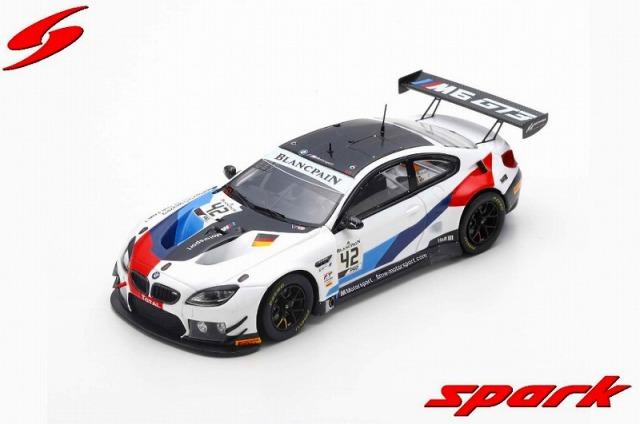 Spark 1/43 BMW M6 GT3 No.42 BMW Team Schnitzer 24H Spa 2019 M. Tomczyk - J. Edwards - A. Farfus