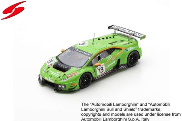 Spark 1/43 Lamborghini Huracan GT3 No.19 GRT Grasser Racing Team 24H Spa 2015 Limited 300