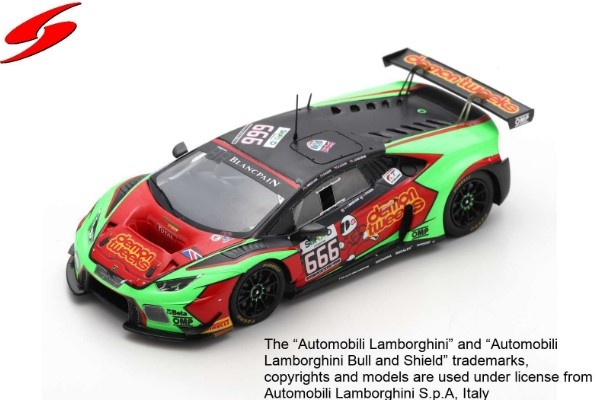 Spark 1/43 Lamborghini Huracan GT3 No.666 Barwell Motorsport 24H Spa 2016 Limited 300