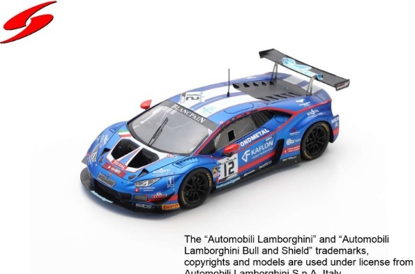 Spark 1/43 Lamborghini Huracan GT3 Evo No.12 Ombra Racing 24H Spa 2019 Limited 500