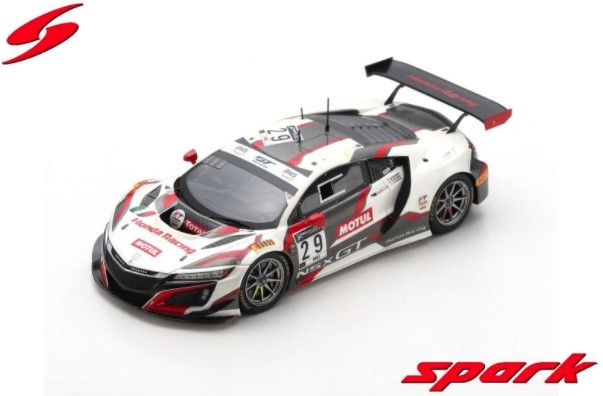 Spark 1/43 Honda Acura NSX GT3 No.29 9th 24H Spa 2020 D. Cameron/M. Farnbacher/R. van der Zande Limited 500