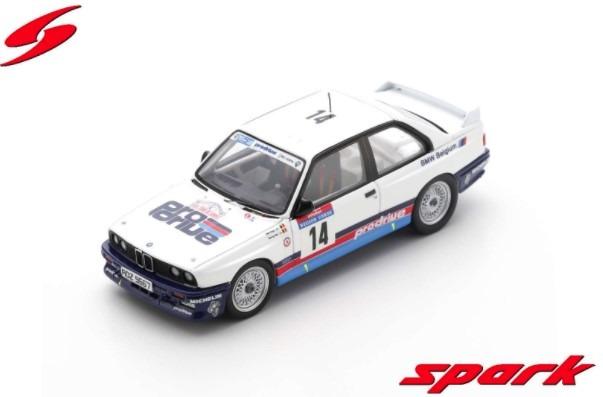 Spark 1/43 BMW M3 E30 No.14 Tour de Corse Rally de France 1987 George Biar - Marc Duez Limited 400