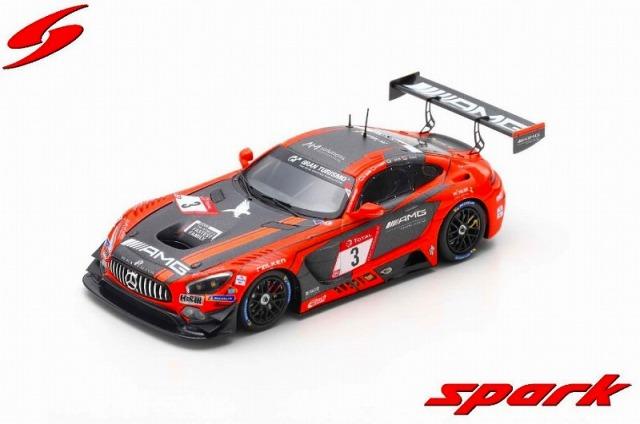 Spark 1/43 Mercedes-AMG GT3 #3 Black Falcon 2nd 24H Nur 2019  M. Buhk - H. Haupt - T. Jager - L. Stolz