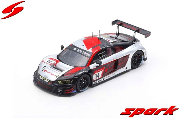 Spark 1/43 Audi R8 LMS No.14 Audi Sport Team Car Collection 3rd 24H Nurburgring 2019 Limited 500
