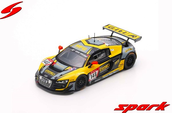 Spark 1/43 Audi R8 LMS BE No.148 Giti Tire Motorsport by RaceIng Winner SP 8 class 24H Nurburgring 2019 Limited 300