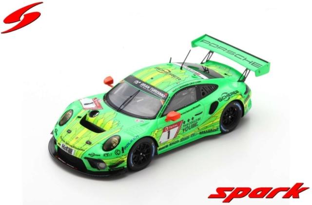 spark 1/43 PORSCHE 911 GT3 R NO.1 MANTHEY-RACING 24H NURBURGRING 2019 R. LIETZ - F. MAKOWIECKI - P. PILET - N. TANDY