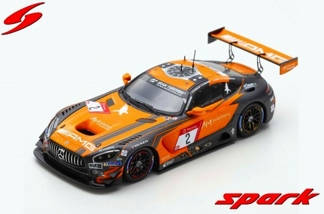 Spark 1/43 Mercedes-AMG GT3 #2 Black Falcon Pole Position  24H Nur 2019