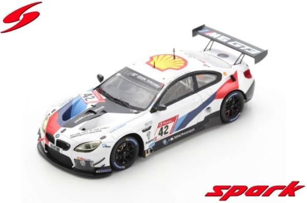 Spark 1/43 BMW M6 GT3 No.42 BMW Team Schnitzer 3rd 24H Nurburgring 2020 Limited 400