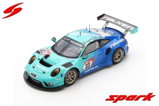 spark 1/43 Porsche 911 GT3 R No.33 Falken Motorsports Nurburgring 2020 K. Bachler - S. Muller - C. Engelhart - D. Werner