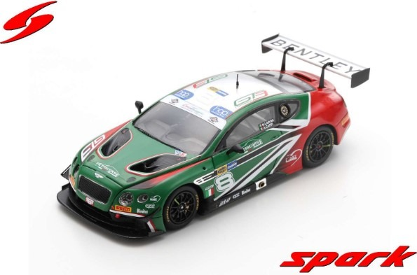 Spark 1/43 Bentley Continental GT3 No.8 Petri Corse Motorsport Italian GT 2018 Limited 300