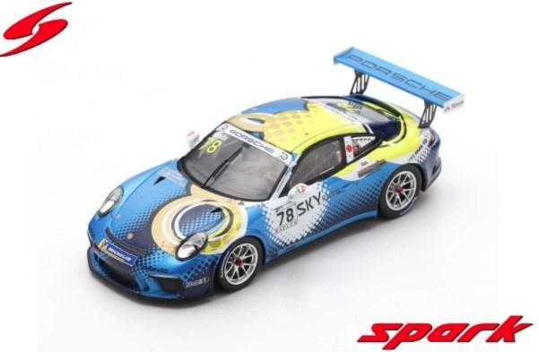 Spark 1/43 Porsche 911 GT3 Cup No.78 Porsche Carrera Cup Japan Champion 2018 Tsubasa Kondo