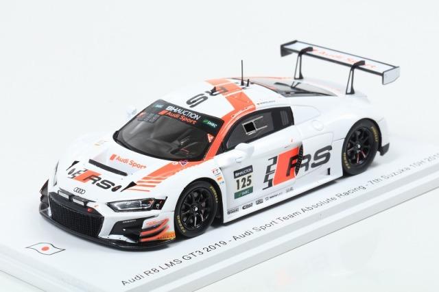 [Spark] 1/43 Audi R8 LMS GT3 2019 No.125 Audi Sport Team Absolute Racing 7th Suzuka 10H