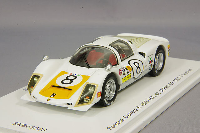 spark 1/43 ポルシェ カレラ 6 906-120 1967 日本グランプリ #7 酒井正 *KIDBOX特注