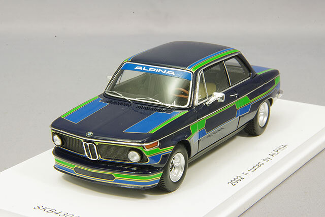 spark 1/43 BMW 2002 ti 1971 tuned by アルピナ *KIDBOX特注
