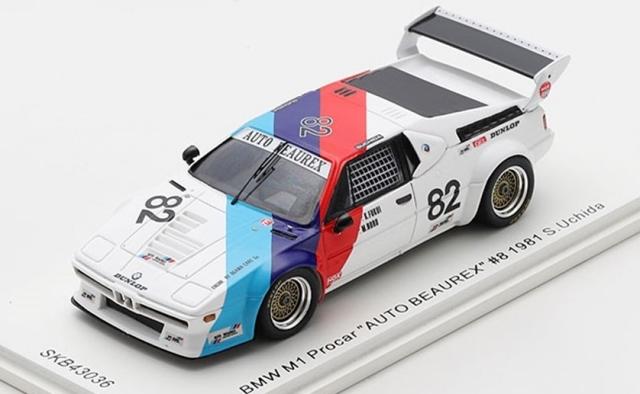 """spark 1/43 BMW M1 Procar """"AUTO BEAUREX"""" #82 1981 S.Uchida *KIDBOX特注"""