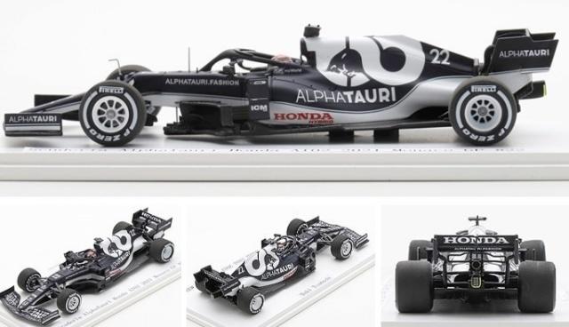 Spark 1/43 スクーデリア アルファタウリ ホンダ AT02 2021 モナコ GP #22 角田裕毅 キッドボックス特注