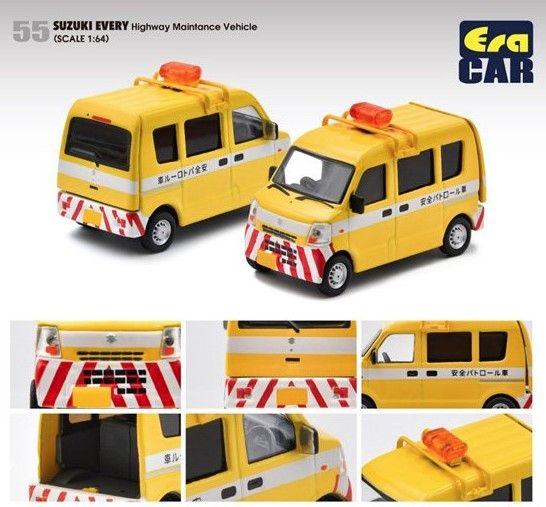 EraCAR 1/64 Suzuki Every スズキ エブリイ 道路パトロールカー