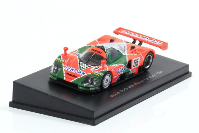 Spark 1/64 Mazda 787 B No.55 Winner 24H Le Mans 1991 V. Weidler - J. Herbert - B. Gachot