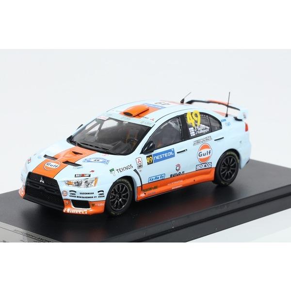 【TARMAC】 1/43 三菱ランサー Evo X Gulf Racing #49 J.Salo Rally Finland 2010