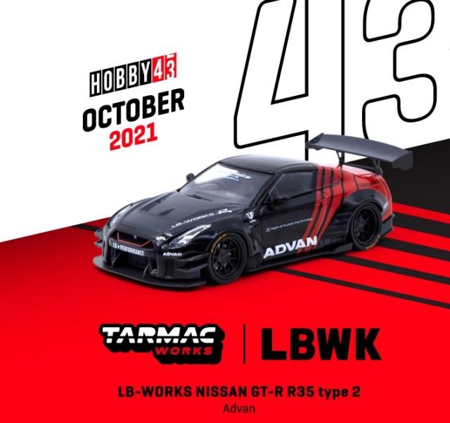 <予約 2021/12月発売予定> TARMAC 1/43 LB-WORKS NISSAN GT-R R35 type 2 Advan