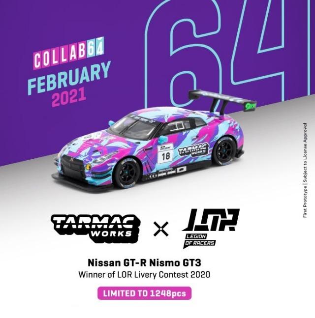 TARMAC 1/64 Nissan GTR Nismo GT3 Winner of Legion of Racers X Tarmac Works Livery Contest