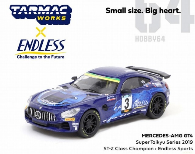 TARMAC 1/64 Mercedes-AMG GT4 Super Taikyu Series 2019 STZ Class Champion Endless Sports