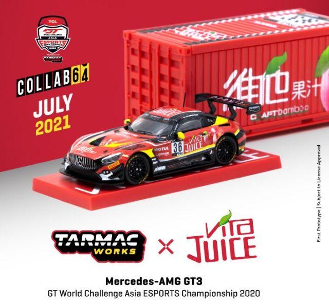 <予約 2021/9月発売予定> TARMAC 1/64 Mercedes-AMG GT3 GT World Challenge Asia ESPORTS Championship 2020 M.Solomon