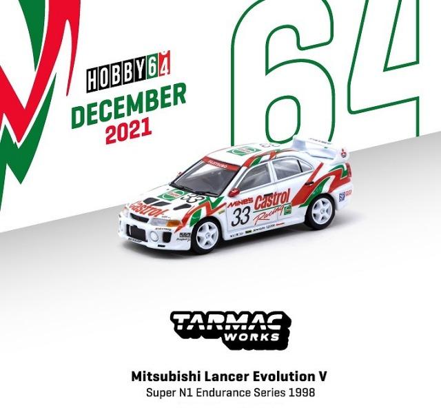 <予約 2022/2月発売予定> TARMAC 1/64 Mitsubishi Lancer Evolution V Super N1 Endurance Series 1998