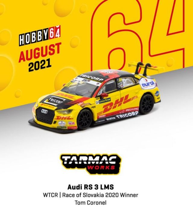 TARMAC 1/64 Audi RS 3 LMS WTCR Race of Slovakia 2020 Winner