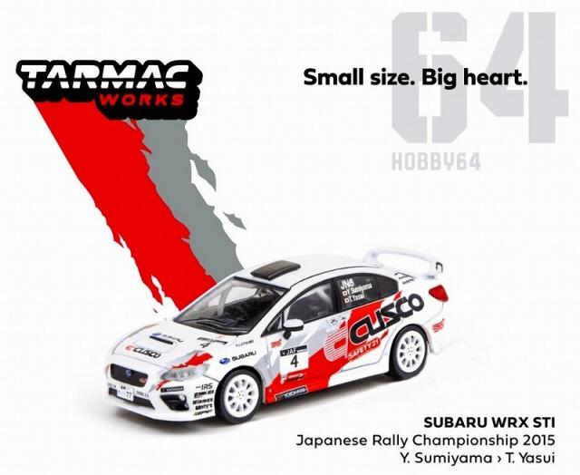 TARMAC 1/64 スバル WRX STI 全日本ラリー選手権 2015 #4
