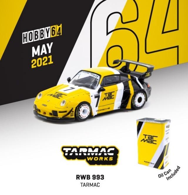 TARMAC 1/64 RWB 993 Tarmac With metal oil can