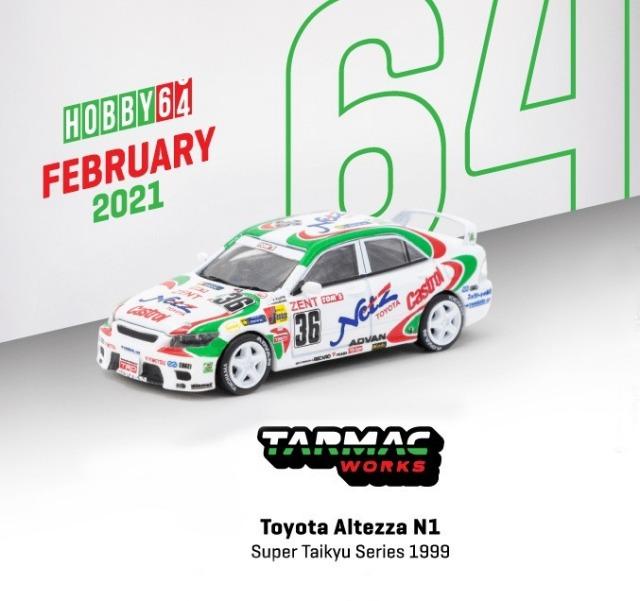 TARMAC 1/64 Toyota Altezza N1 Super Taikyu Series 1999