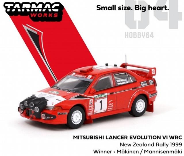 TARMAC 1/64 三菱 ランサー エボリューションVI WRC ニュージーランド 1999 #1