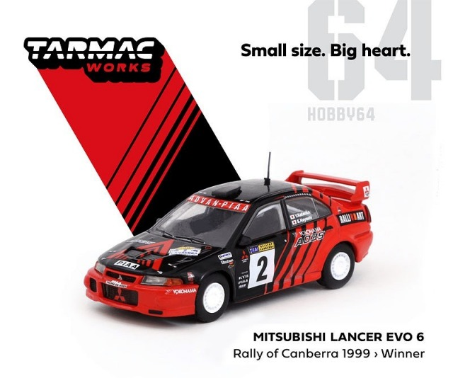TARMAC 1/64 Mitsubishi Lancer Evo 6 Winner Rally of Canberra 1999