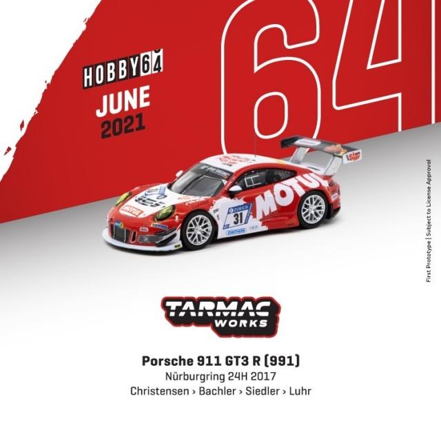 TARMAC 1/64 Porsche 911 GT3 R (991) Nurburgring 24h 2017