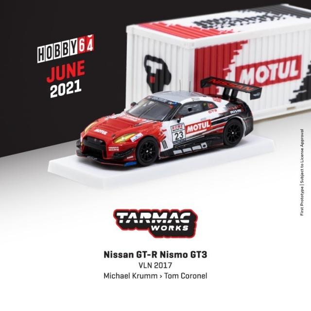 TARMAC 1/64 Nissan GT-R Nismo GT3 VLN 2017
