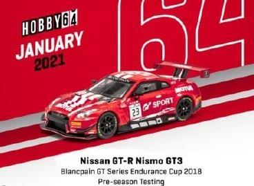 TARMAC 1/64 日産 GT-R ニスモ GT3 ブランパンGT 2018 #23