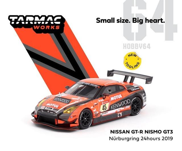 TARMAC 1/64 Nissan GT-R Nismo GT3 Nurburgring 24 hours 2019